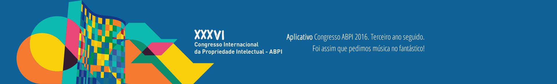 Aplicativo Confresso ABPI 2016. Terceiro ano seguido.