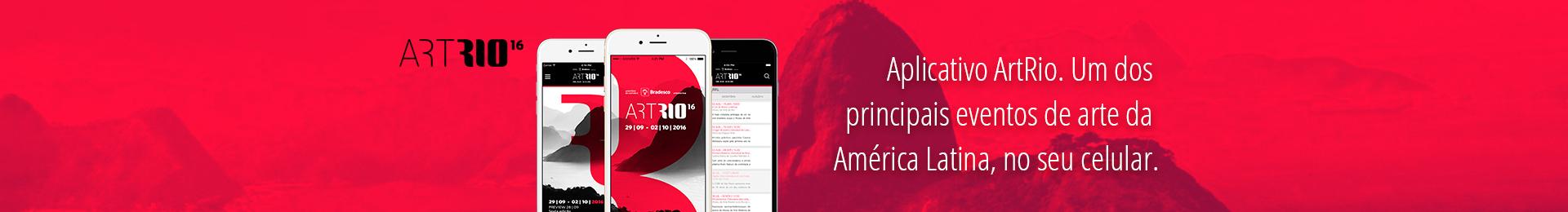 Aplicativo ArtRio. Um dos principais eventos de arte da América Latina.