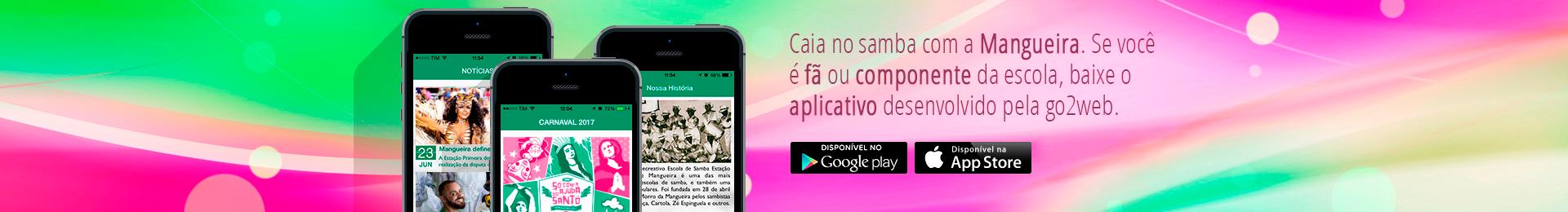 Caia no Samba com a Mangueira