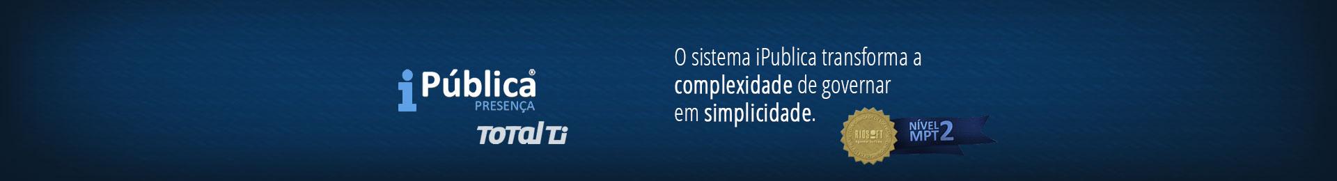 Banner do iPública que transforma a complexidade de governar em simplicidade
