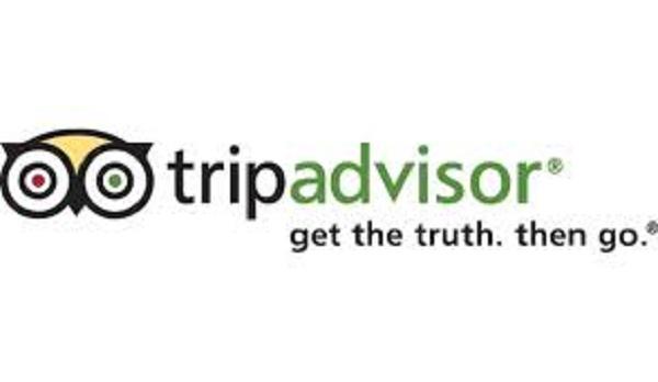 Logo da TripAdvisor com slogan: get the trut