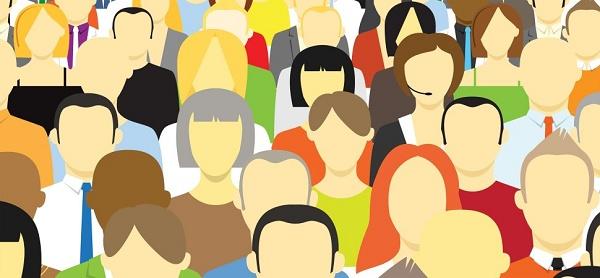 Ilustração com crescimento desordenado do número de empregados na empresa