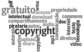 imagem escrito copyright e coisas relacionadas