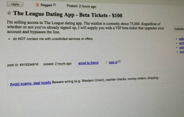 Anuncio de beta tickets por US$ 100