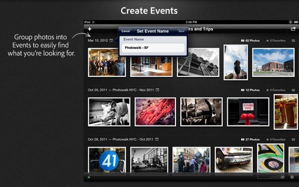 Imagem mostra como criar grupos para compartilhamento