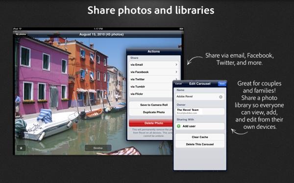 Imagem mostra como compartilhar fotos e bibliotecas pessoais