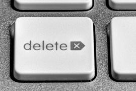imagem da tecla delete do teclado