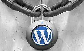 Imagem mostra cadeado com a marca do Wordpress