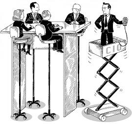 Ilustração de um CIO chegando ao mesmo nível dos demais Chefes