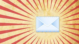 ícone do e-mail com luz ao redor