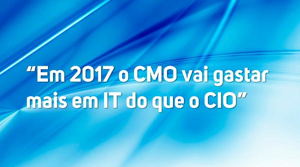 Em 2017 o CMO vai gastar mais em IT do que o CIO