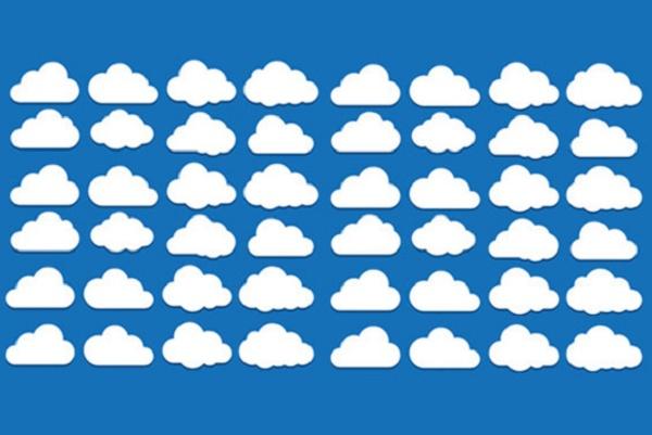 várias nuvens