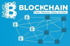 Logo do Blockchain com slogan