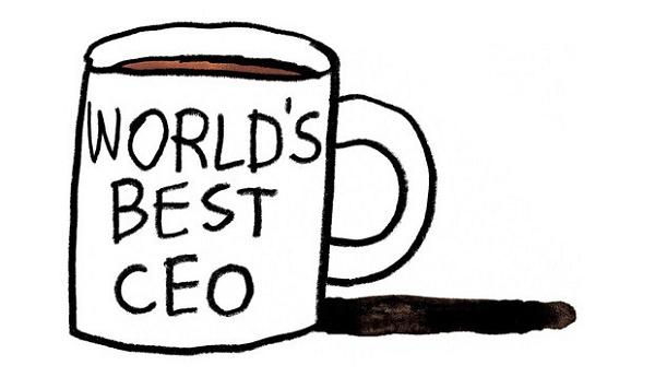 uma caneca escrito Worlds Best CEO