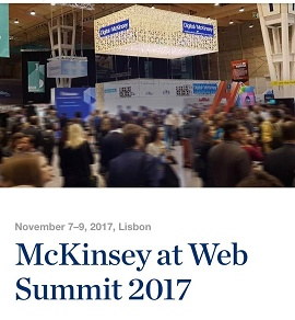 Foto da McKinsey at Web Summit 2017