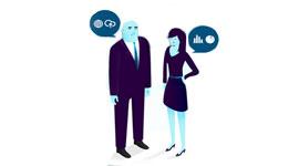 Imagem mostra cliente rodeado por opções