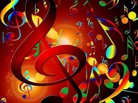 Ilustração com notas musicais