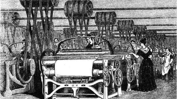 Ilustração de motor a vapor
