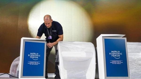Foto do Fórum Mundial de Davos