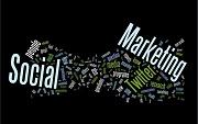 Nomes de redes sociais espalhadas em fundo preto