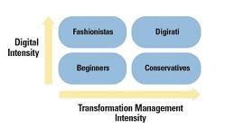 Gráfico de maturidade digital