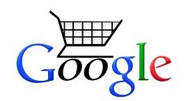 Carrinho de compras com logo do Google