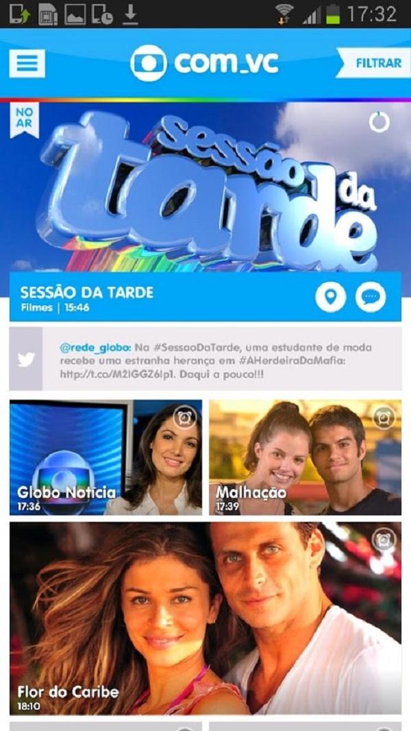 Aplicativo de segunda tela da TV Globo