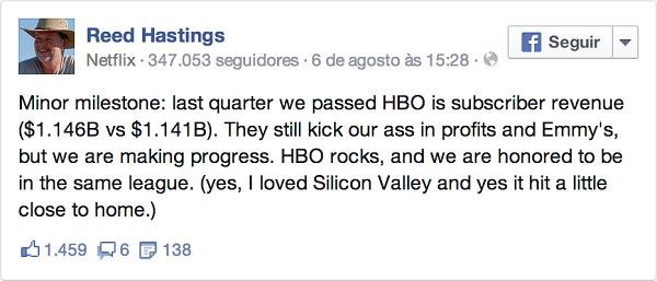declaração do CEO da Netflix