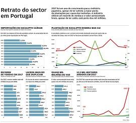 Infográfico sobre incêndios florestais em Portugal