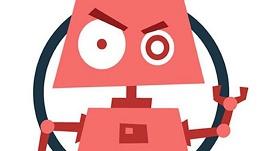 Ilustração de um bot do mal.