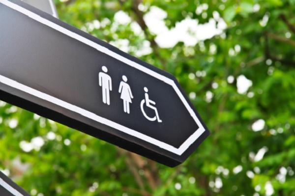 Imagem da placa de sinalização de banheiro
