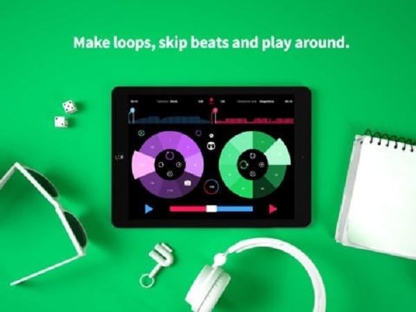 Imagem mostra edição de música na tela do tablet