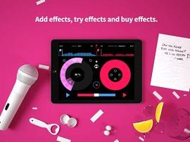 Imagem mostra efeitos do app na tela do tablet