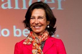 Foto de Ana Botin, presidente do Santander
