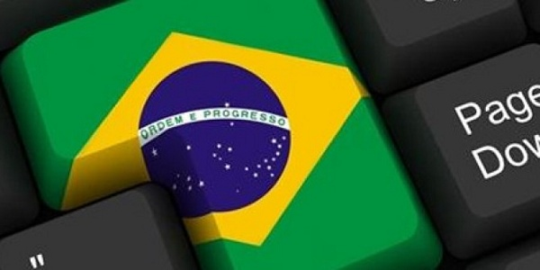 Tecla com a bandeira do Brasil