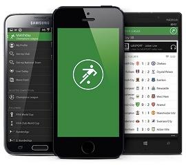 telas do aplicativo onefootball