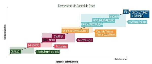 Gráfico com ecossistema do Capital de Risco
