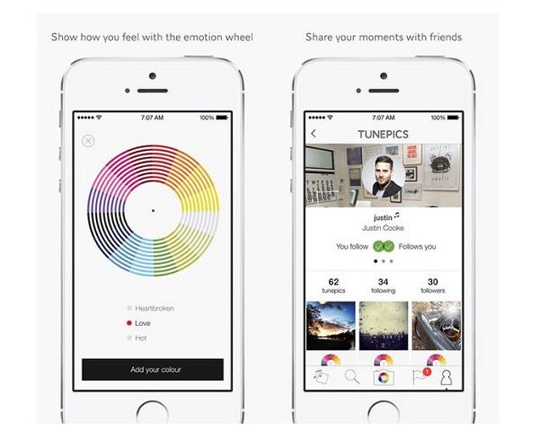 Imagem da tela do app