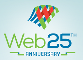 logo de comemoração dos 25 anos da world wide web