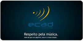 Logo do Ecad, que protege os direitos autorais e distribuição de música