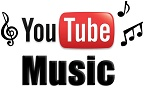 Logo do Youtube estilizado com a palavra Music