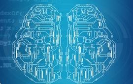 Ilustração para machine learning-cérebro eletrônico