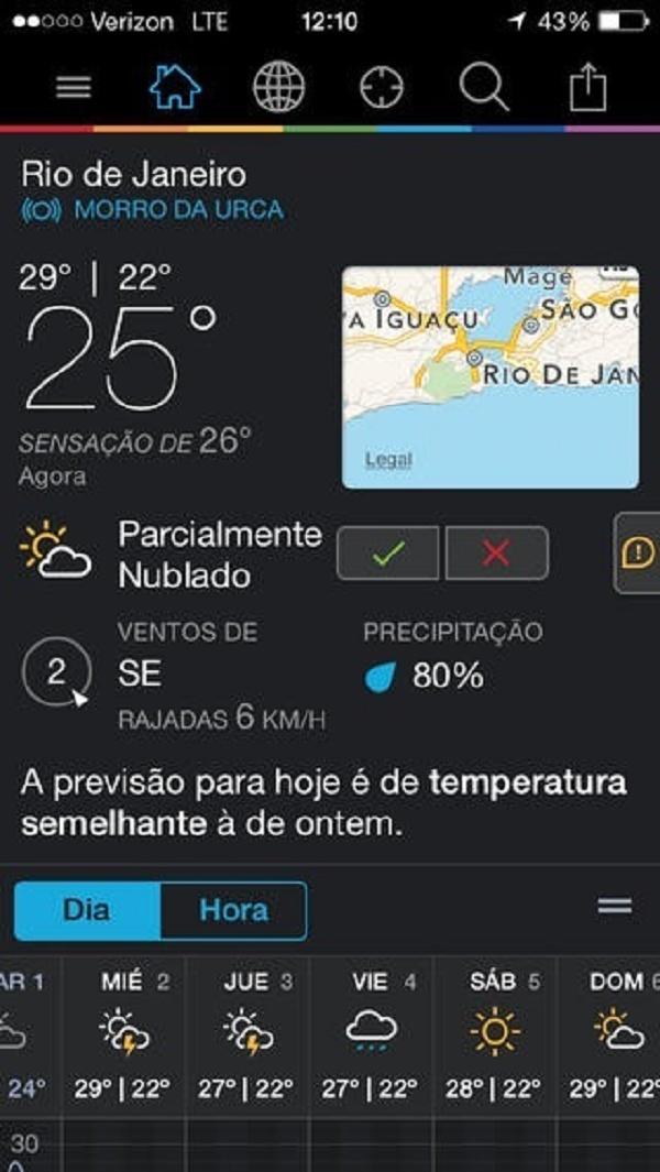 Imagem mostra tela principal do app