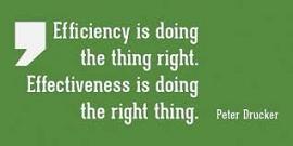Frase de eficácia e eficiência por Peter Drucker