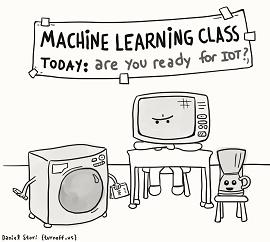 Ilustração engraçada de machine learning