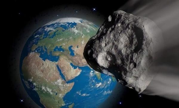Foto de um asteroide em direção à Terra