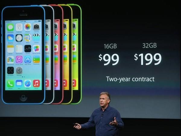iPhone 5C nas cores azul, rosa, amarelo e verde