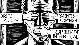 Ilustração com dizeres propriedade intelecutal e direito atual