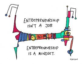 Ilustração de empreendedorismo
