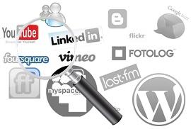 Passando a lupa em logos de redes sociais